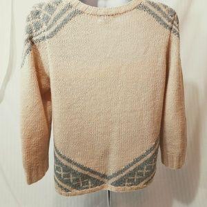 J. Crew Sweaters - J. CREW HANDKNIT TILE SWEATER THICK WOOL & CASHMER
